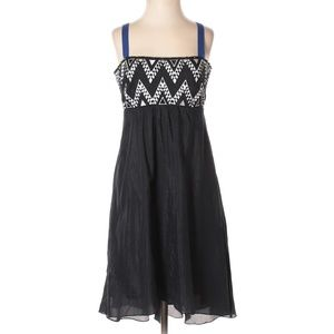 ANTHROPOLOGIE Leifnotes Embroidered Cut-Out Dress